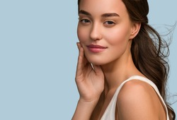 Beauty woman face close up healthy skin care female woman beautiful face