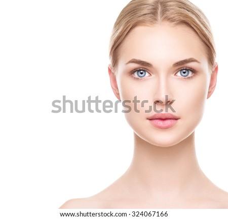 beauty woman face portrait....