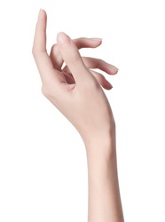 beauty woman hand isolate is on white background with clipping path