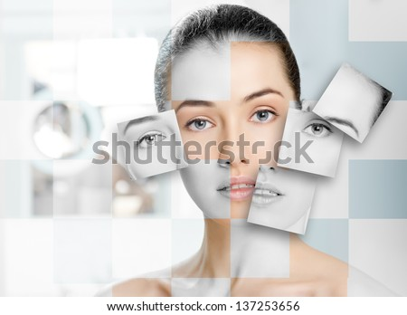 beauty woman on the bathroom background #137253656
