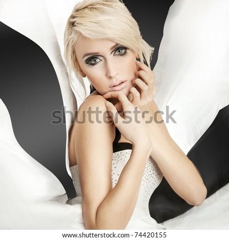 Beauty woman portrait - stock photo