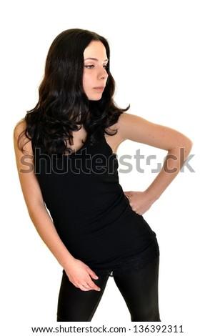 beauty woman portrait of teen girl
