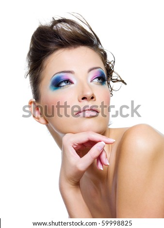 Lifestyle - Pagina 2 Stock-photo-beauty-woman-with-glamour-makeup-and-creative-hairstyle-59998825