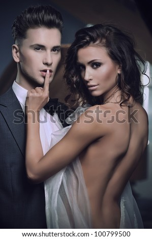 Beauty women and handsome men - stock photo