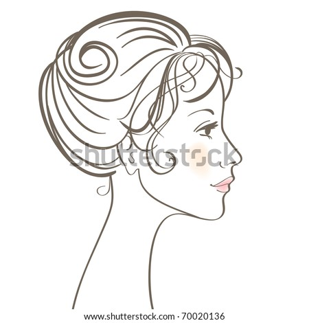 Beauty women face illustration with make up