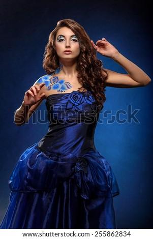 Beauty young woman, closeup, real beauty girl