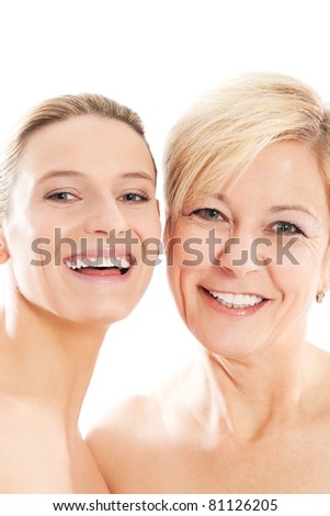 Beauty - youth and age or mother and daughter