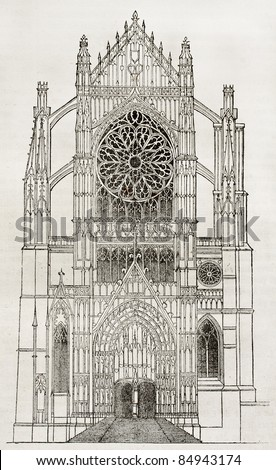 beauvais cathedral  side portal ...
