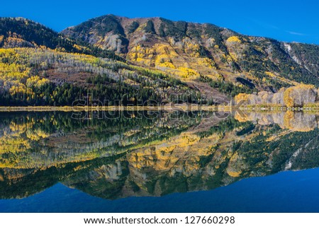 Beaver Lake and reflection, Marble, Colorado