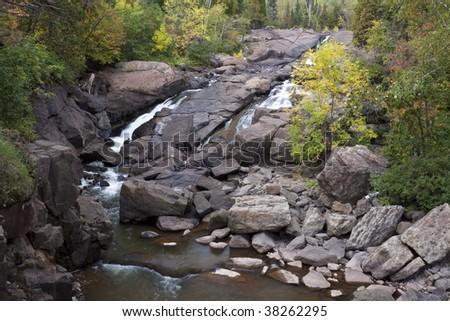 Beaver River Falls Autumn - stock photo