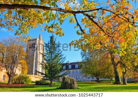 Bec-Hellouin abbey, Normandy France  Photo stock ©