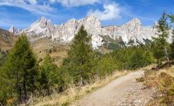 Becco di Mezzodi and Rocheta, Beautiful Alpi dolomiti mountains in Italia