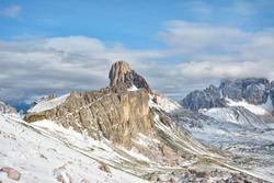 becco di mezzodi, rocheta and Croda da Lago lake, Cortina d'Ampezzo, Dolomites, Italy
