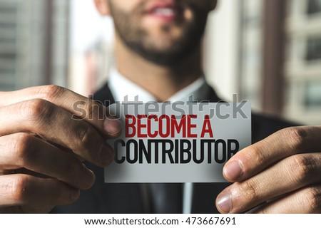 Become a Contributor Stock photo ©