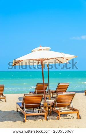 Bed beach on tropical beach #283535069