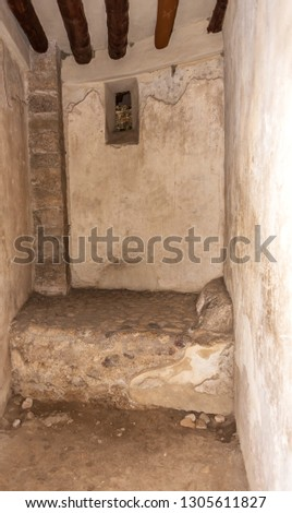 Bed in Brothel in the Ruins of Ancient Pompeii Italy