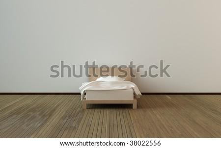 bed room 3d rendering