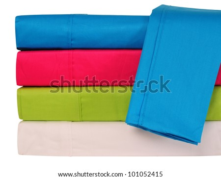 Bed spreads. Isolated
