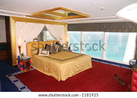 Bedroom at Burj al Arab