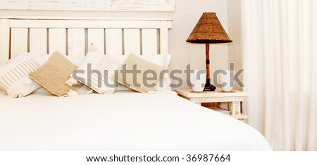 Bedroom in natural colours