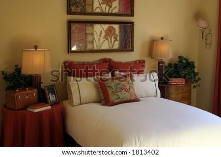 Bedroom interior. - stock photo