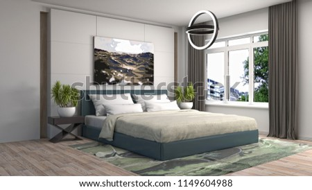 Bedroom interior. 3d illustration #1149604988