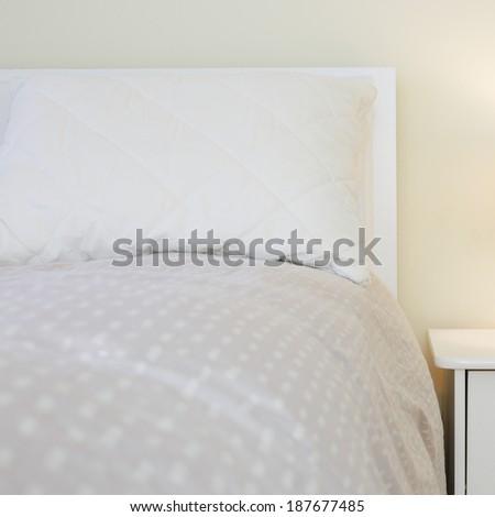 Bedroom  interior design in white colors #187677485