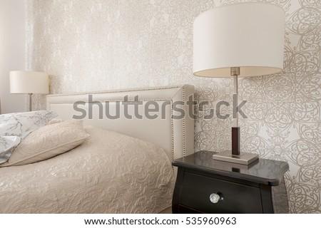Bedroom interior in luxury apartment #535960963