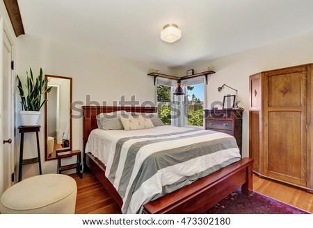 bedroom interior with queen...