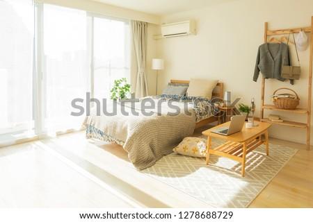 Bedroom living alone #1278688729