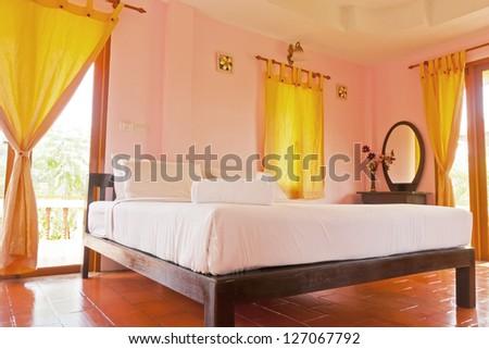 Bedroom on holiday at resort