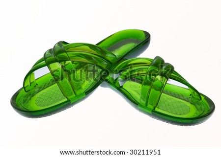 bedroom slippers on a white background