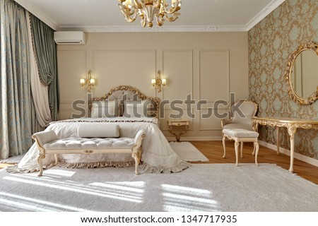 bedroom with a beautiful interior #1347717935