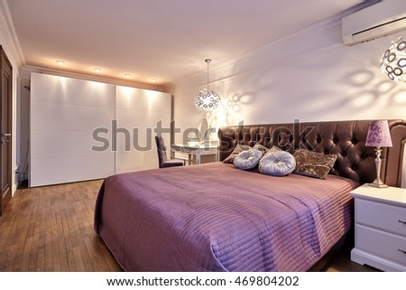 bedroom with a beautiful interior #469804202