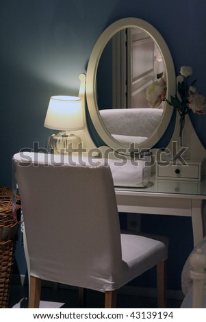 Bedroom with a mirror