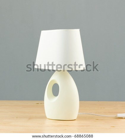Bedside lamp isolated on the table for interior use