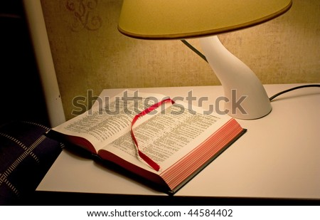 Bedtime Bible reading, ambient light