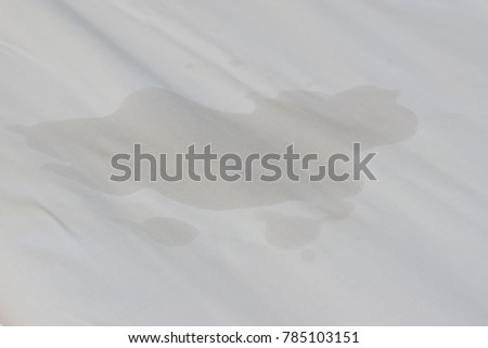 Bedwetting, Adult or children pee on the bed. Selection focus on the wet sheet. #785103151