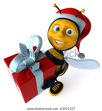 Bee and gift