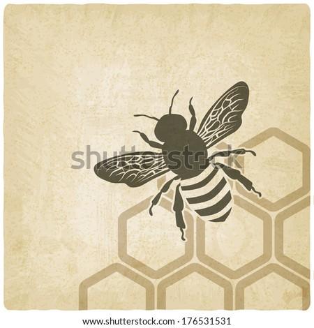 bee old background -  illustration