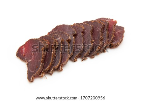 Beef Biltong isolated on a white background. Stock photo ©