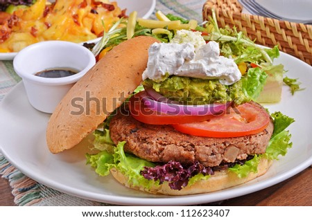 Beef Burger with roated onion and tomato