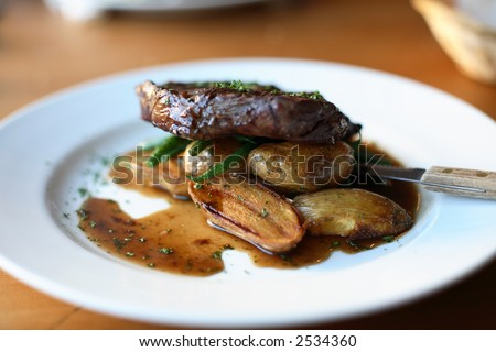 Beef fillet and roast potatoes london