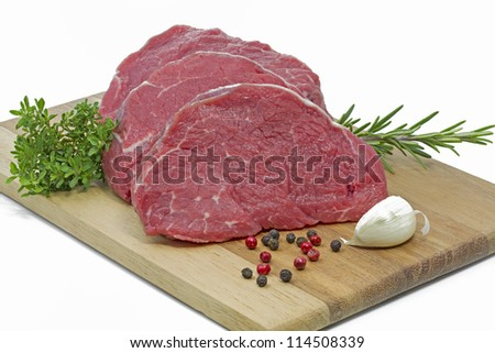 Beef fillet on a chopping board