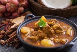 Beef massaman curry, thai cuisine