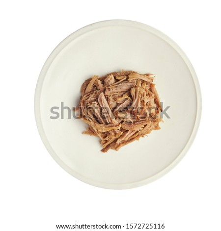 Beef on plate and white background #1572725116