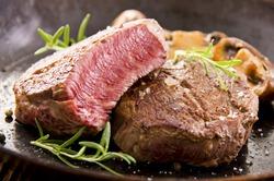 beef steak in the pan