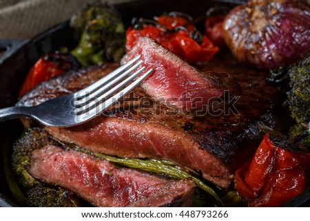 how to cook steak medium rare in a pan