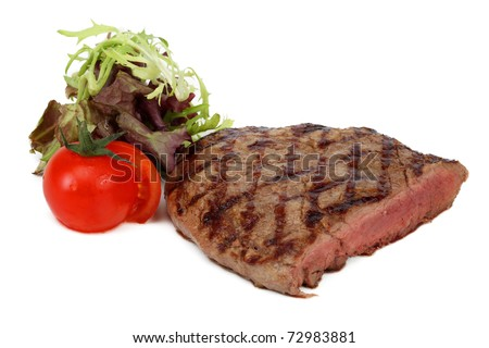 beef steak with vegetables - stock photo