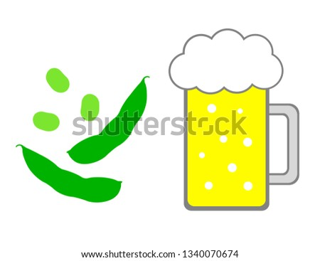 Beer and green soybeans.